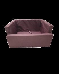 Fotelik do samochodu dla psa wodoodporny bordowy melanż