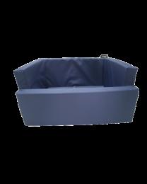 Fotelik do samochodu dla psa wodoodporny niebieski