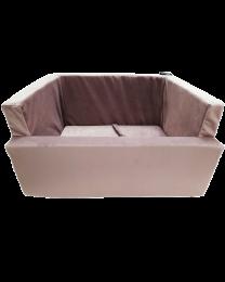 Fotelik do samochodu dla psa brudny róż