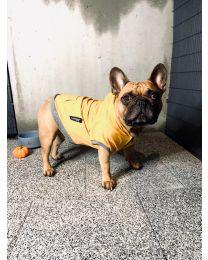 Bluza dresowa z kapturem żółta