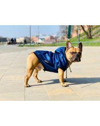Kurtka przeciwdeszczowa dla psa granatowa
