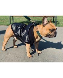 Kurtka przeciwdeszczowa dla psa czarna
