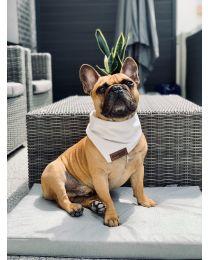 Bandamka dla psa biała