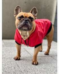 Kurtka przeciwdeszczowa dla psa czerwona