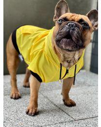 Kurtka przeciwdeszczowa dla psa żółta