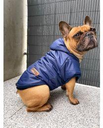 Kurtka zimowa dla psa granatowa