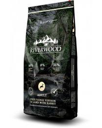 Karma Riverwood dla psów Dorosłych z Jeleniem, Jagnięciną i z Królikiem 12 kg