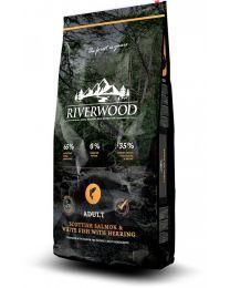 Karma Riverwood dla psów Dorosłych z Łososiem Szkockim, Białą Rybą i Śledziem 12 kg