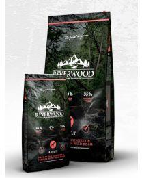 Karma Riverwood dla psów Dorosłych z Reniferem, Jeleniem i z Dzikiem 2 kg
